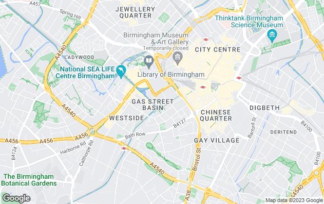 Map for James A Baker, Birmingham