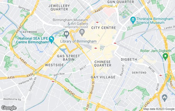 Map for Dixons, Birmingham City Centre