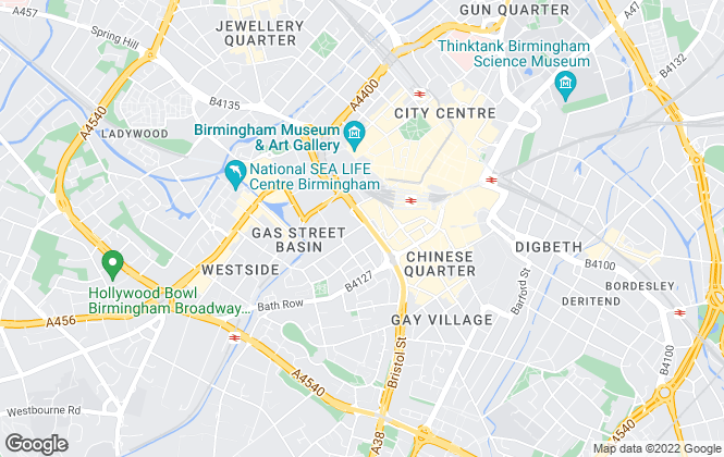 Map for Ark Lettings, Birmingham