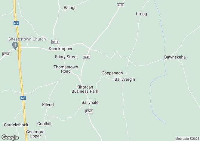 Map for Derrynahinch, Ballyhale, Co. Kilkenny