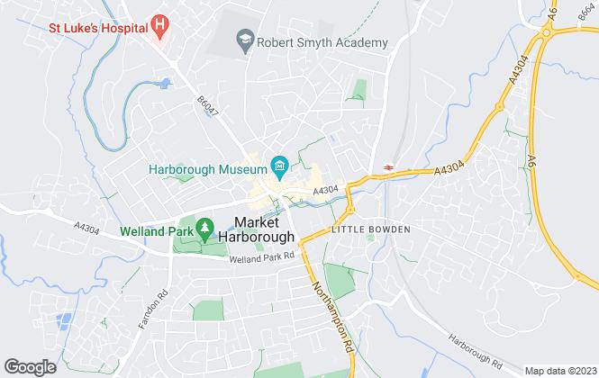 Map for Henderson Connellan, Market Harborough