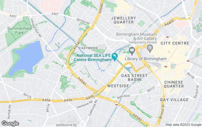 Map for Blue Horizon Marketing, Birmingham