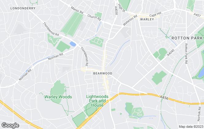 Map for Royal Estates, Birmingham