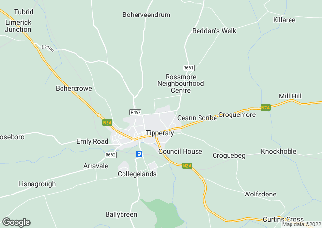 Map for Sunningdale, Lakelands, Tipperary, Co Tipperary, E34 KT27