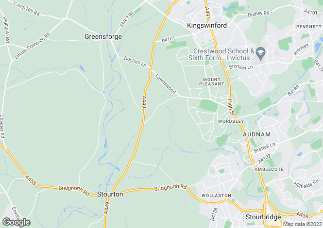 Map for Lawnswood Drive, Wordsley, Stourbridge, West Midlands