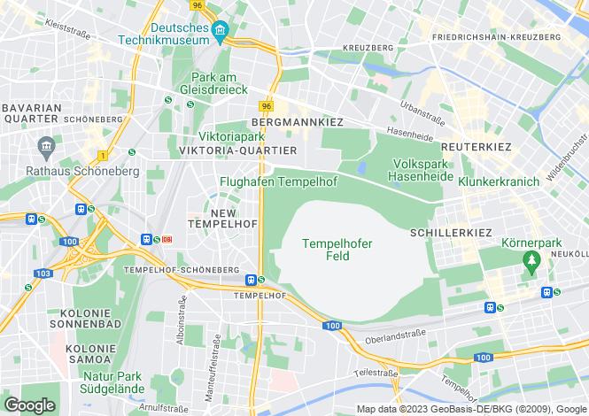 Map for Tempelhof, Berlin, Germany
