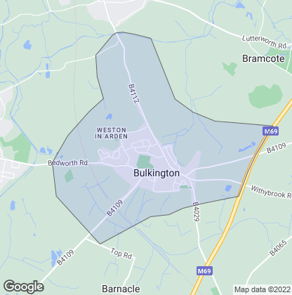 Map of property in Bulkington