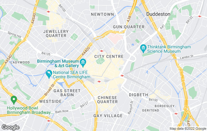 Map for Christie & Co , Birmingham