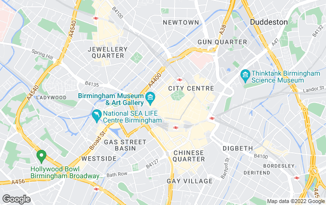 Map for Centrick Property, Birmingham - Commercial