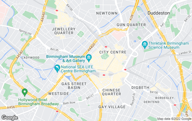 Map for Centrick Property, Birmingham
