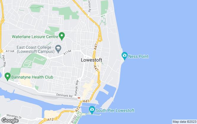 Map for Langwrights Independent Estate Agents Ltd, Lowestoft
