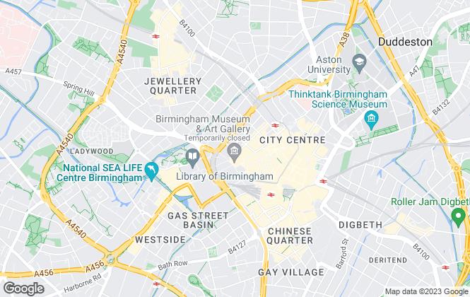 Map for Vail Williams, Birmingham