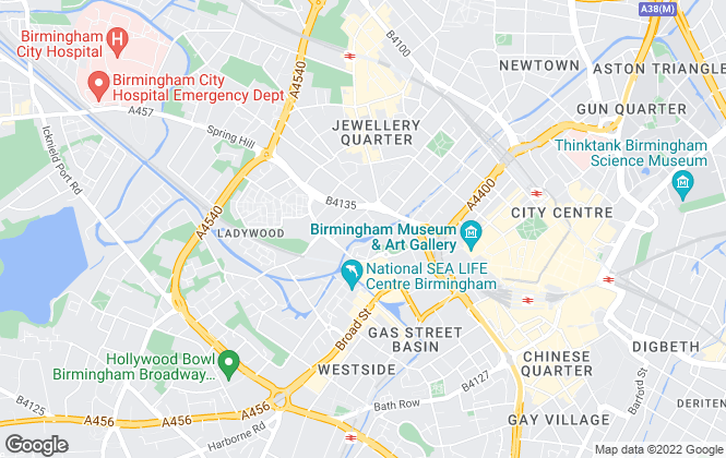 Map for Letscene, Birmingham