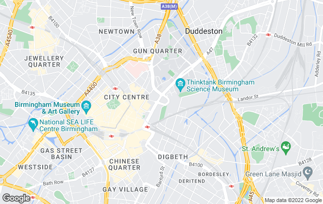 Map for Eight8 Property, Birmingham