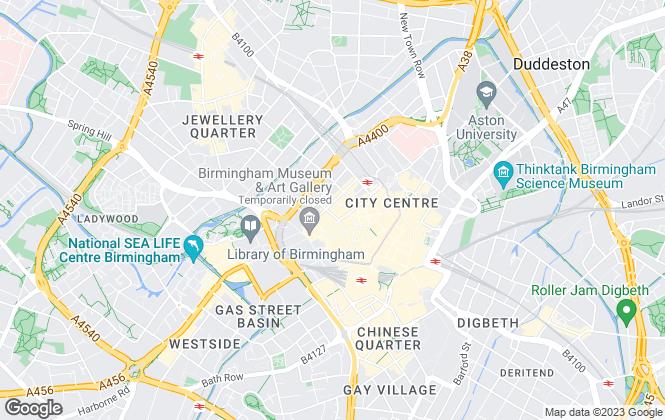 Map for Creative Retail , Birmingham