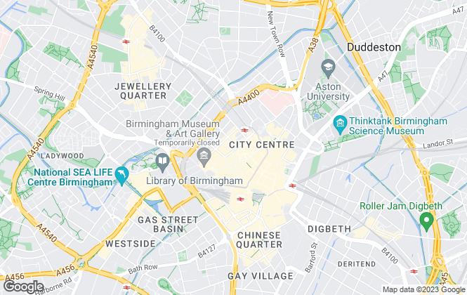 Map for Savills , Birmingham Industrial