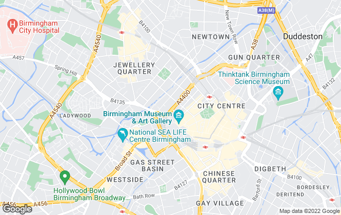 Map for Connells, Birmingham City