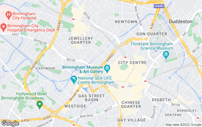 Map for Chosen Home , Birmingham, Covering the Midlands