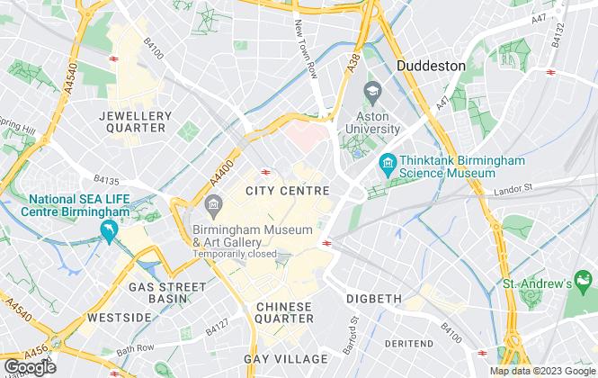 Map for Stewart Oliver Ltd, Birmingham