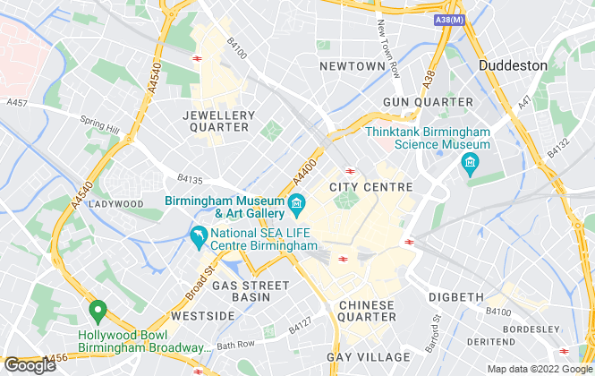Map for Rhubarb Property, Birmingham - Sales