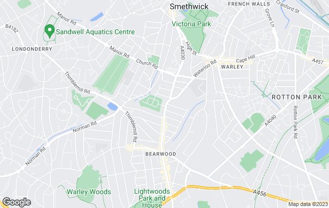 Map for Sure Lettings, Birmingham