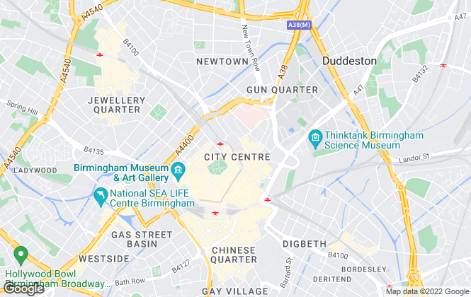 Map for Cushman & Wakefield, Birmingham