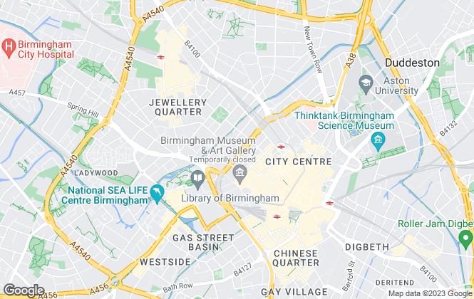 Map for KWB, Birmingham
