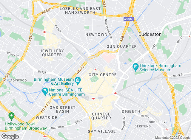 Map for Knight Frank - New Homes, Birmingham