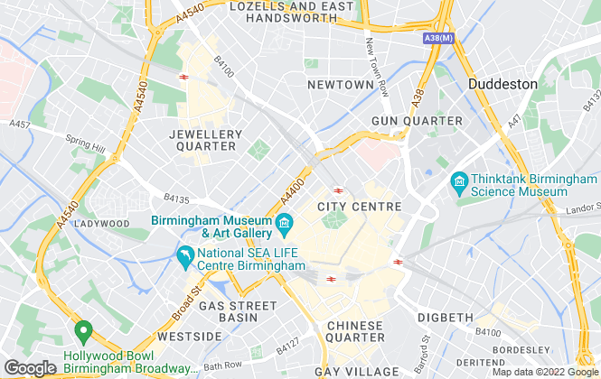 Map for Bruton Knowles , Birmingham