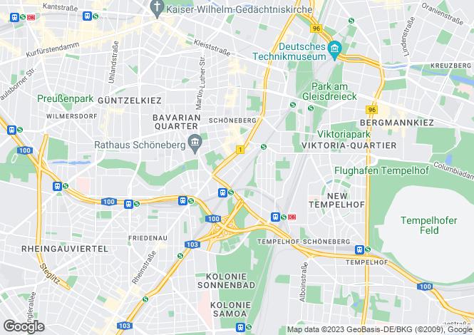 Map for Schoeneberg, Berlin, Germany