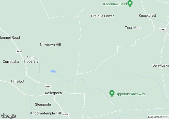 Map for Railstown, Rosegreen, Cashel, Tipperary