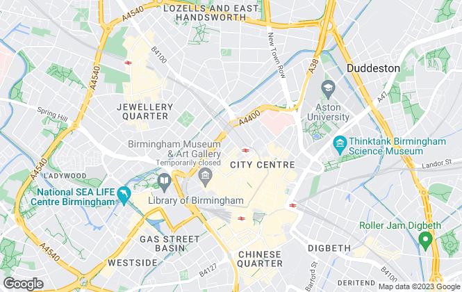 Map for Walker Doble, Birmingham