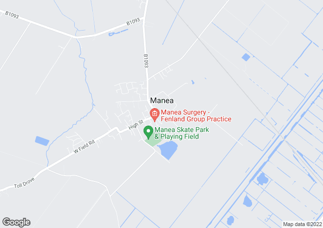 Map for East Street, Manea, March