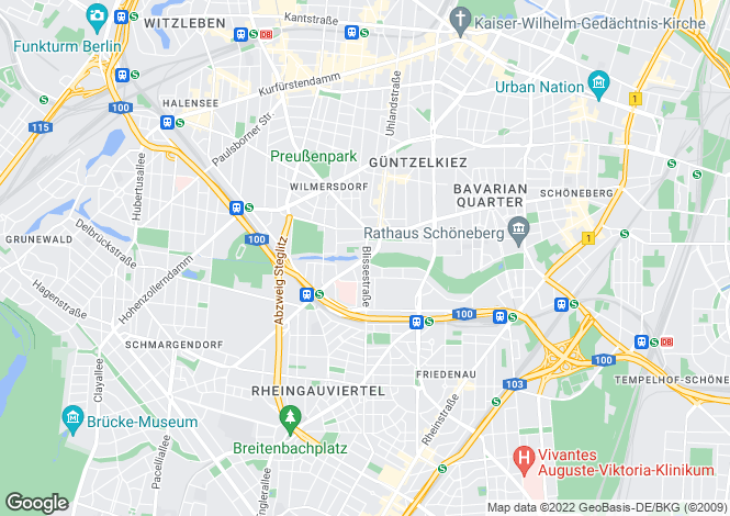 Map for Wilmersdorf, Berlin, Germany