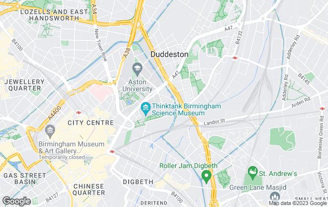 Map for Birmingham City Student Homes, Birmingham