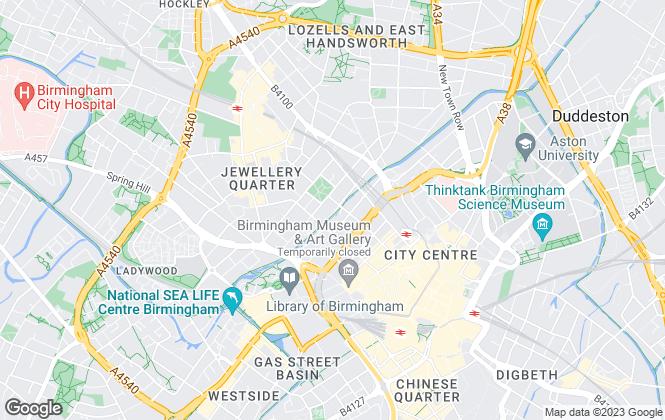 Map for Birmingham Rooms , Jewellery Quarter