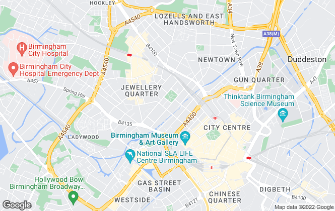 Map for Purple Bricks, Birmingham City Centre