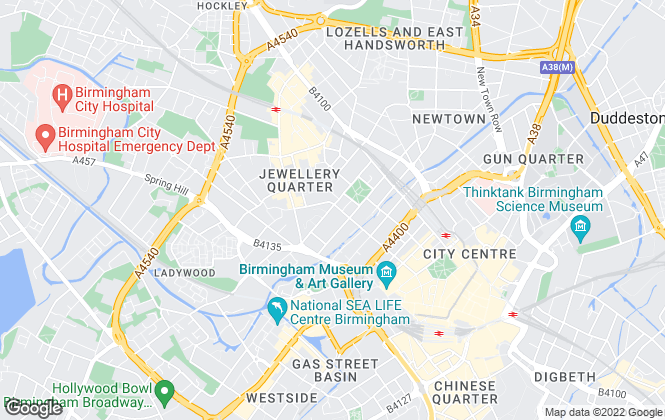Map for Claremont Property Group, Birmingham