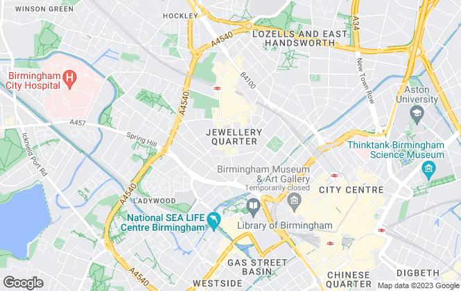 Map for York Laurent, Birmingham-Sales