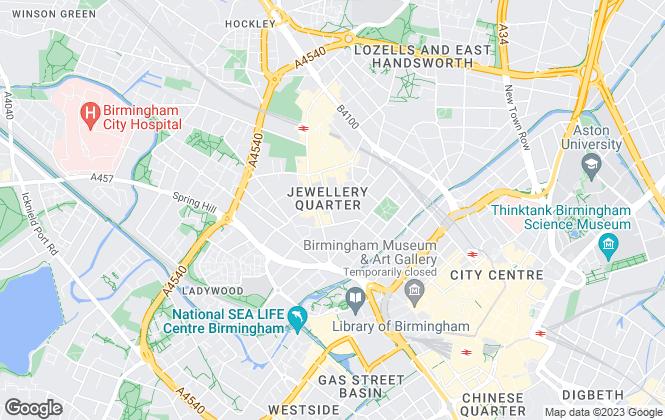 Map for Arkade Property, Birmingham