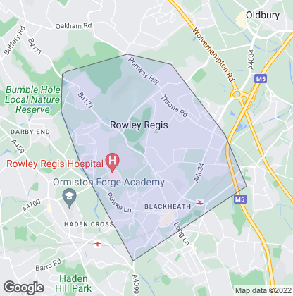 Map of property in Rowley Regis