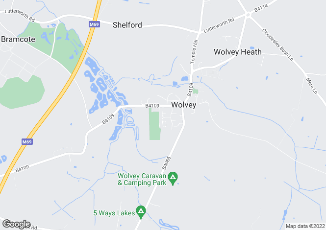Map for Bracken Drive, Wolvey, Hinckley, Warwickshire