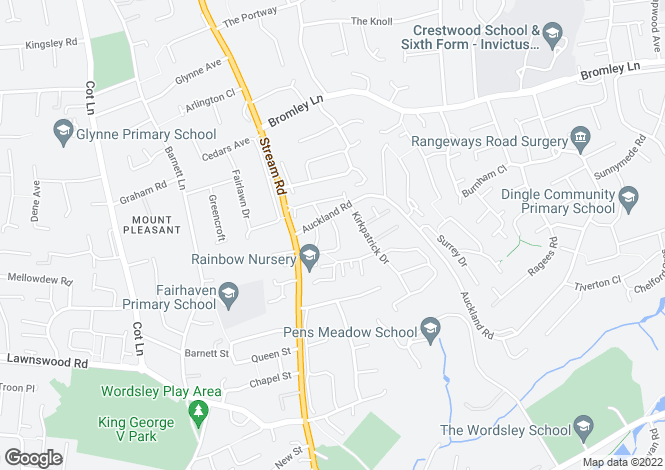 Map for 86 Marshall Crescent, STOURBRIDGE, West Midlands
