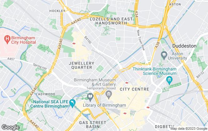 Map for CBB, Birmingham