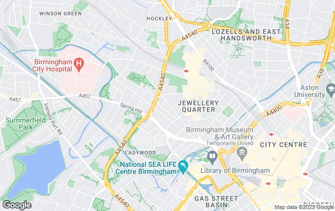 Map for Martin & Co, Birmingham City