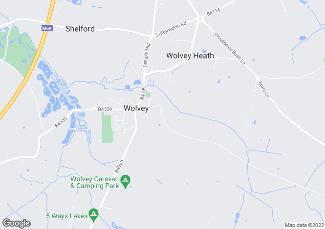 Map for Wolds Lane, Wolvey, Hinckley