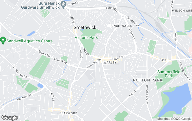 Map for Meridian, Smethwick