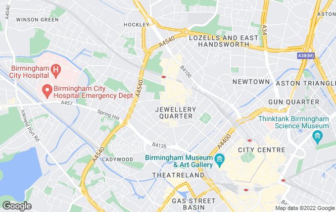 Map for Empire Lettings & Property Management Ltd, Birmingham