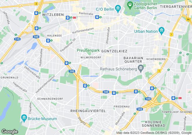 Map for Wilmersdorf, Berlin