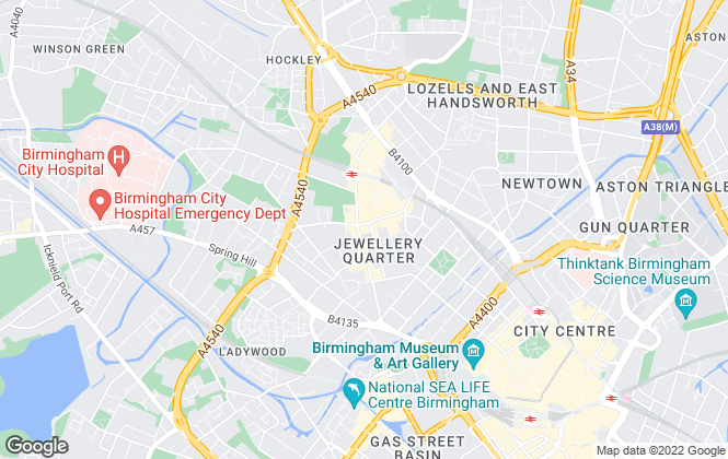 Map for Arkade Property, Birmingham - Lettings